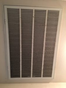 dirty filter grate